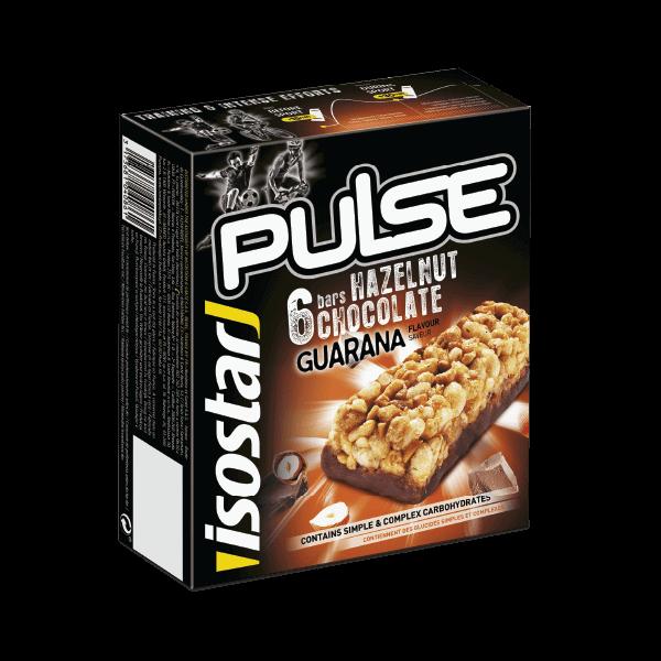 Isostar Pulse Hazelnut Chocolate Guarana bar 23g x 6